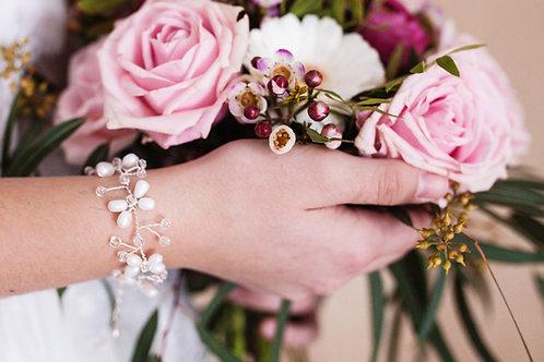 Armband Braut ,Süßwasserperlen, Perlen