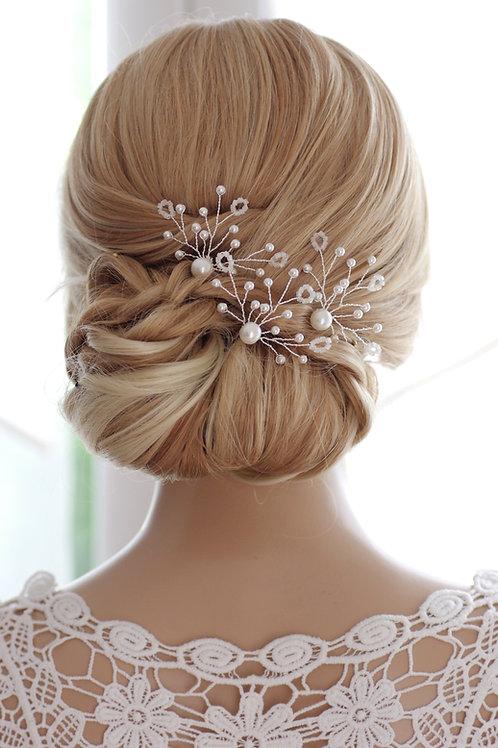 Haarschmuck,Haarnadeln in ivory/beige oder weiß