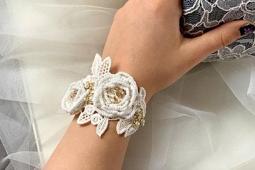 Brautschmuck,  Armband Vintage, Spitze, Perlen,Boho