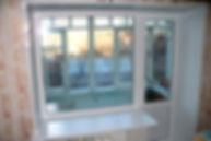 Пластиковая дверь окно на балкон