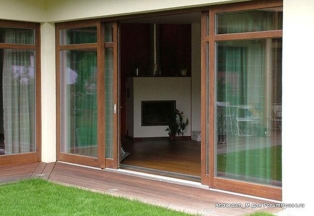 Раздвижные пластиковые двери для террасы и веранды