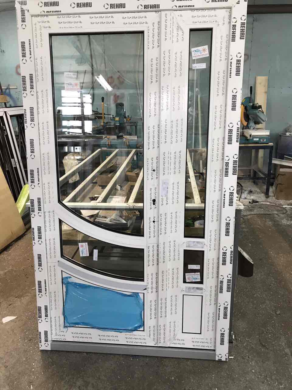 Металопластикові посилені двері