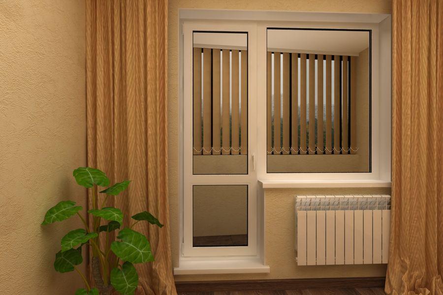 металлопластиковая дверь на балкон