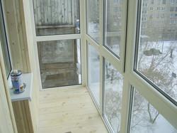 Панорамный балкон под ключ