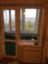 Дверь окно на балкон
