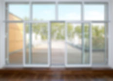 раздвижные металлопластиковые двери