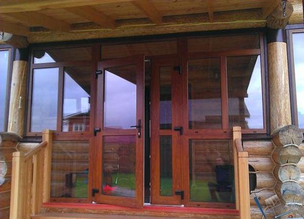Пластиковые двери для террасы и веранды