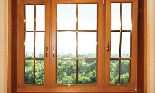 Ламинированные окна со шпросами в квартиру