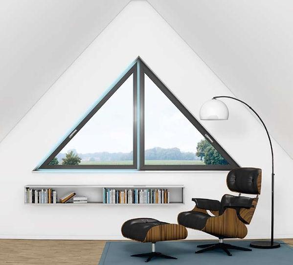 Треугольные металлопластиковые окна