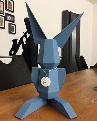 codo scultura coniglio