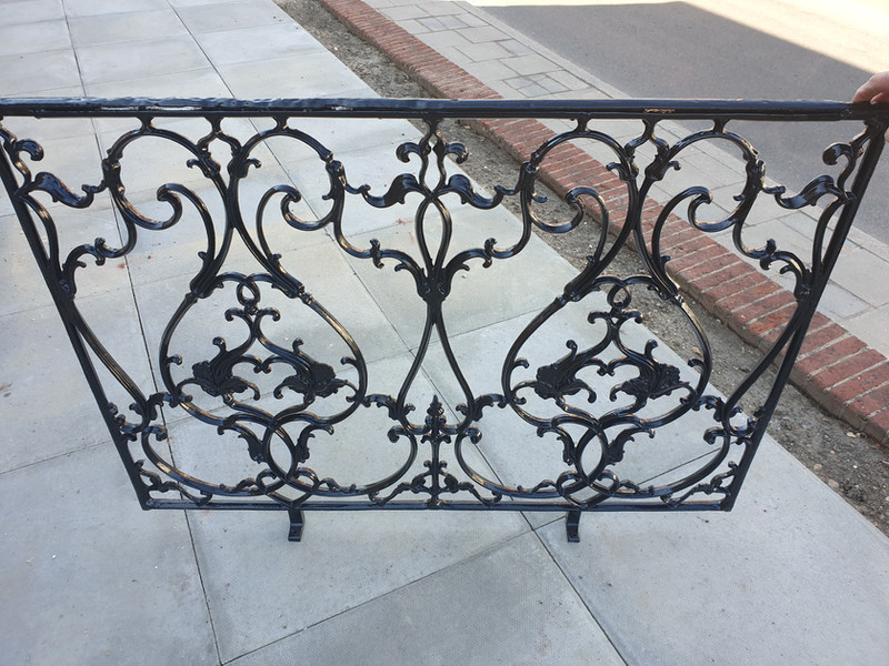 Victorian railings after renovation
