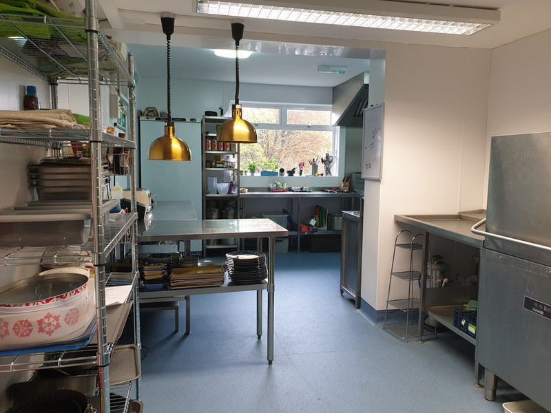 From an office space to a commercial kitchen