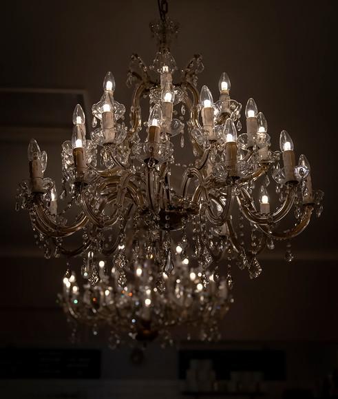 Original chandeliers