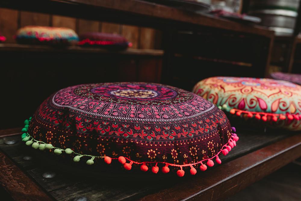 Bohemian wedding hippie cushions