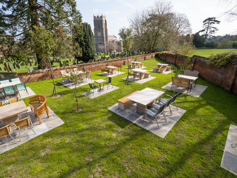 Dine outside near me in Norfolk at the Terrace at Loddon