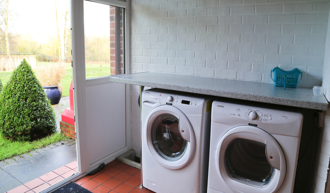 Laundery room available to guests, which includes washing machine and tumble dryer