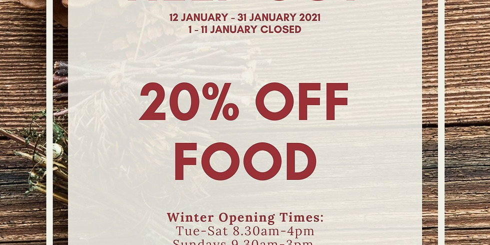 January Eat Out to Help Out