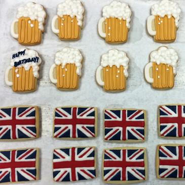 Beer mugs and British flag.jpg