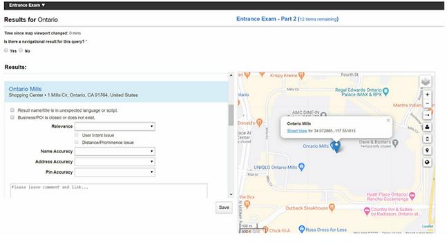 Lionbridge Online Map Quality Analyst Exam PART 2 (Practice Part)