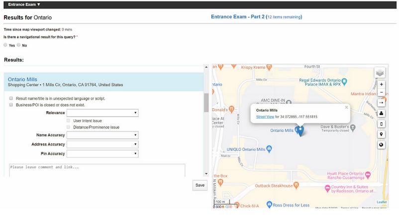 Lionbridge Online Map Analyst Exam Part