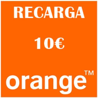Recarga de saldo compañía Orange