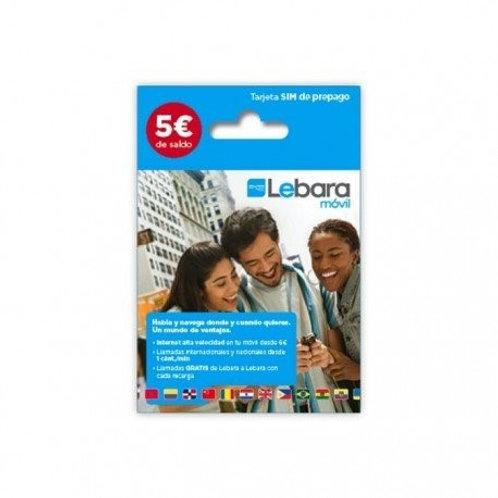 Recargas de Lebara 5€
