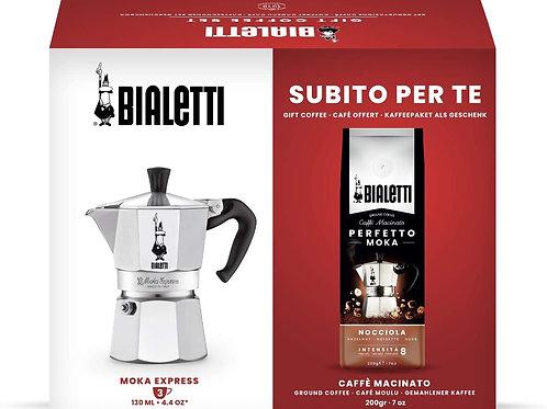 Cafetera Bialetti 3 Tazas + cafe molido