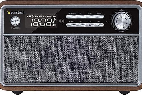 Radio SUNSTECH RPBT500 Bluetooth Madera