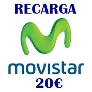 Recarga de saldo compañía Movistar