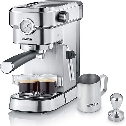 Severin KA 5995 Espresa Plus - Cafetera espresso, 1350, 1.1 L, acero inoxidable