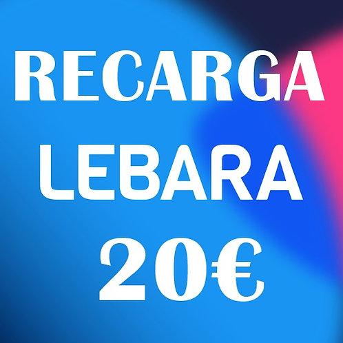Recarga de saldo compañía Lebara 20€
