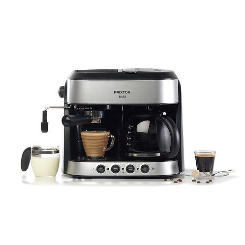 Cafetera Doble 3 Funciones en 1   Bari