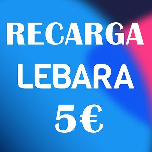 Recarga de saldo Compañía Lebara 5€