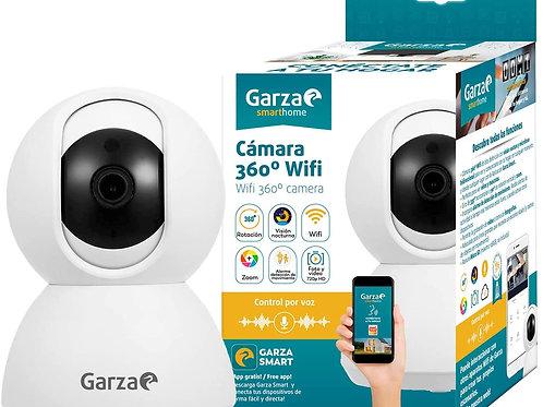 Garza Smarthome - Cámara IP WiFi Inteligente 360, visión Nocturna, HD, iOS, Andr