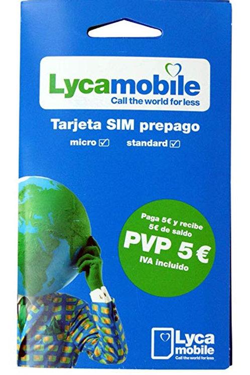 Tarjeta Sim Layca Móvil 5€