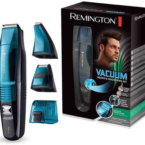 Remington MB6550 Vacuum - Kit barbero, cuchillas revestidas de titanio, aspiraci