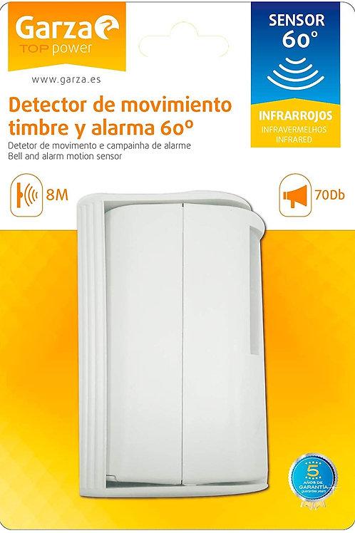 Detector de Movimiento Timbre y Alarma  60º GARZA