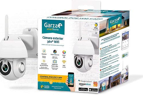 Garza Smarthome - Cámara Exterior WiFi Inteligente 360 para Seguridad, HD 1080p,