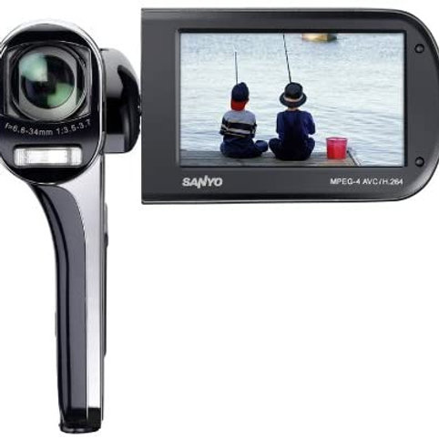 Sanyo Full HD Dual Camera with 14M Photos 14,3 MP CMOS Negro - Videocámara