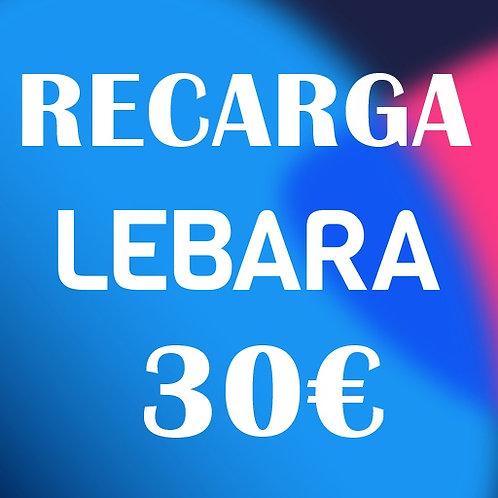 Recarga de saldo compañía Lebara 30€