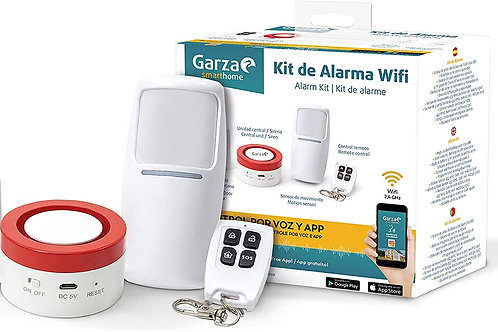 Garza Smarthome - Kit de Alarma WiFi Inteligente para hogar, Sirena de 120 dB, S