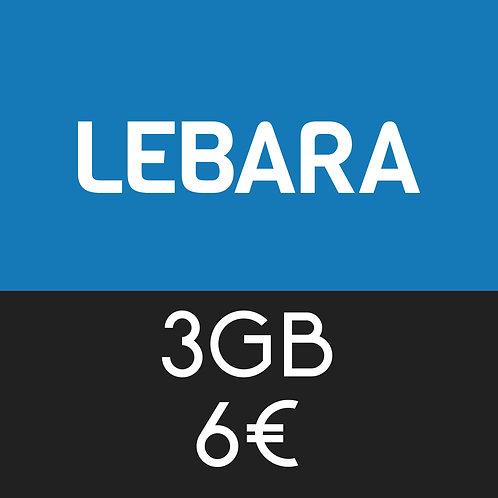 Recarga de Teléfono de Lebara 3 GB