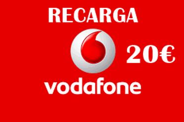 Recarga de saldo compañía Vodafone