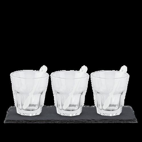 Set 3 vasos para cafe frio Bialetti