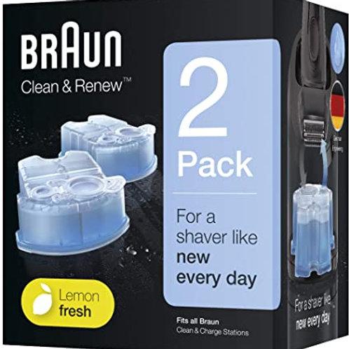 Braun Clean&Renew Cartuchos para afeitadora eléctrica hombre, 2 unida