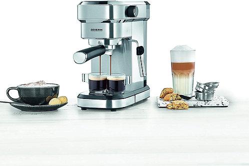 Cafetera espresso, 1350 W, 1.1 L, acero inoxidable cepillado, función descalcifi