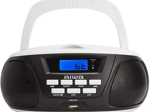 Radio Cd Boombox Aiwa BBTU-300RD Bluetooth