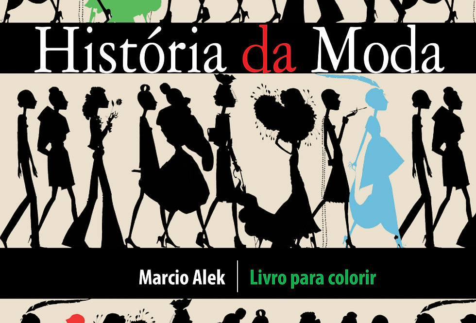 História da Moda - Livro para colorir