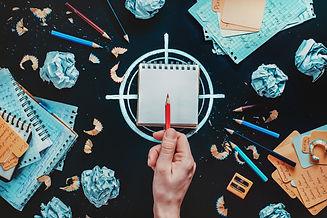 writer-at-work-deciding-on-goal-PFMSGYL.