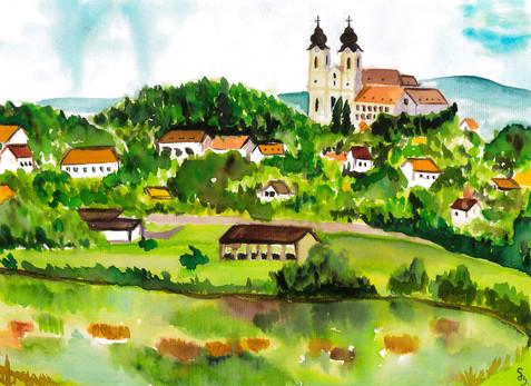 Bernát Sára - Tihanyi Apátság a Belső-tóval